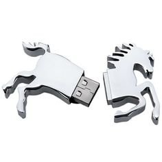 2GB High Speed Galloping Horse Shaped Metal USB 2.0 Flash Memory (WHITE GOLDEN) | Everbuying.com