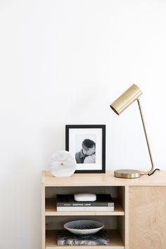minimalist entryway console