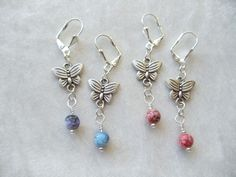 Butterfly Drop Earrings $13 KaydieMarieArt.com