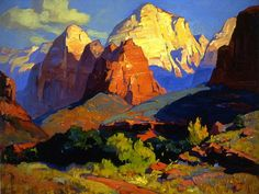 "Franz Bischoff, Zion Park, no date, oil on canvas, 24"" x 30""; Irvine Museum"