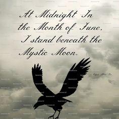 Gothic Art Print Edgar Allen Poe Quote by nevermorealteredart