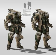 Infantry mecha by StTheo.deviantart.com on @deviantART