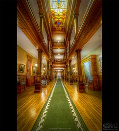 This is a 6-exposure HDR image from inside the Legislative Assembly of Ontario in Toronto, Canada. When I was there in July, I was exploring the city by foot. On that particular day it was like 35+ °C, and I was toast when I arrived at the location. But it turned out to be the perfect day for the visit as there were very few people there. So, photographing the place was relativly easy.