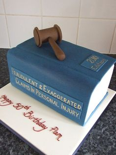 law book cake for law school graduation!