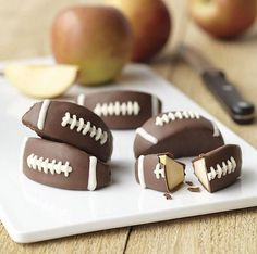 Apple dipped in chocolate