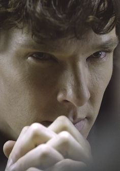 Sherlock looking at whom we can only assume to be either Adrianna Hartley or John-o... ;) Im going to say John! :)