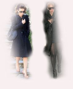 black coat, Kate Beckinsale VS Amber Rose fashion diva who-wore-it-better celeb celebrity