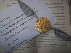 A snitch bookmark!  Too cool!