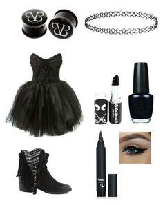 """Black Veiled Brides"" by who-is-canada ❤ liked on Polyvore featuring art"