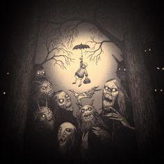 Art And Illustration, Monster Illustration, Illustrations, Kunst Inspo, Art Inspo, Arte Horror, Horror Art, Fantasy Kunst, Fantasy Art