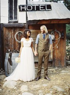 Pretty tulle and lace - Inspired by This Bohemian Barn Ojai Valley Wedding | Inspired by This Blog