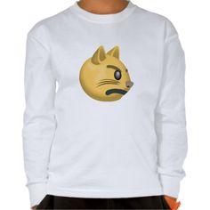 Pouting Cat Face Emoji Shirt