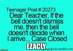 Discover ideas about teenager posts sarcasm Teenager Posts Sarcasm, Funny Teen Posts, Teenager Posts Crushes, Relatable Posts, Teen Quotes, Funny Quotes, Funny Memes, Hilarious, Funny Teenager Quotes