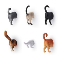 If you're looking for a cute and goofy magnet for your fridge or filing cabinet, check out the Kikkerland Design Cat Butt Magnet. It's a charming design of the back half of a cat, giving everything a more lighthearted tone.