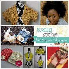 Stacey Williams of Busting Stitches: 5 FREE crochet patterns in the Moogly August Designer Showcase!