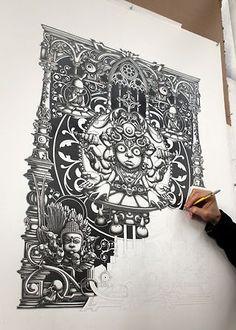 Cool wall illustration art