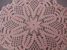 Handmade crochet doily with an 100% cotton thread. Wonderful Home decor and Table Decoration Dimensions 10 (or 26 cm) in diameter Color - light pink Thank you for visiting my shop