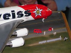 A380 Edelweiss Air - 1:144 Historia Sion 2005 Scale Models, Fighter Jets, Aircraft, Commercial, Historia, Aviation, Scale Model, Planes, Airplane