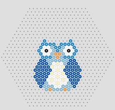 Owl hama perler beads pattern #hamabeads #pattern #owls