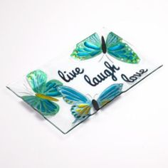 SONOMA life + style Live, Laugh, Love Rectangular Glass Platter