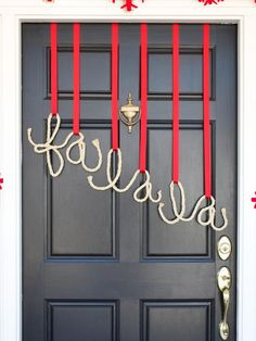 Danmade DIY Rope Door Decor : Craft : Decorating : Christmas : HGTV : Home