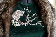 (REF) Sansa Stark Season 6 Direwolf Velvet Gown Costume Dress