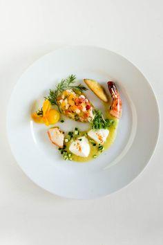 …in 4 Gängen: Tomate | Garnele | Fenchel | Safran