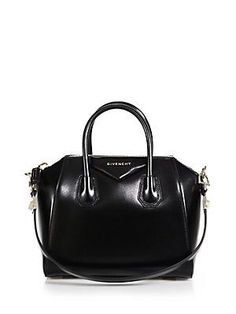 b3a7da15684b Givenchy Antigona Small Glazed Leather Satchel - Black Givenchy Antigona