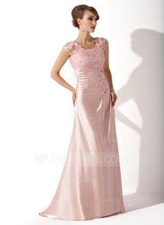 Mother of the Bride Dresses - $138.99 - A-Line/Princess Scoop Neck Sweep Train Tulle Charmeuse Mother of the Bride Dress With Ruffle Lace Beading Sequins (008005616) http://jjshouse.com/A-Line-Princess-Scoop-Neck-Sweep-Train-Tulle-Charmeuse-Mother-Of-The-Bride-Dress-With-Ruffle-Lace-Beading-Sequins-008005616-g5616