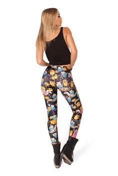 Black Cartoon Print Leggings   Read More:   http://jewellerycabin.com/black-cartoon-print-leggings.html