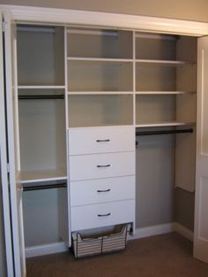 Awesome storage for a boy closet (they don't have long dresses to hang) or a craft room.