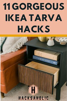 11 Surprisingly Good Ikea Tarva Hacks The Ikea Tarva range is very plain and perfect for hacking. These Ikea Tarva hacks show you just how creative you can be with a Tarva dresser or nightstand. Ikea Hacks, Ikea Tarva Hack, Ikea Hack Nightstand, Ikea Hack Bathroom, Ikea Billy Hack, Ikea Hack Storage, Ikea Hack Kids, Ikea Tarva Dresser, Ikea Billy Bookcase Hack