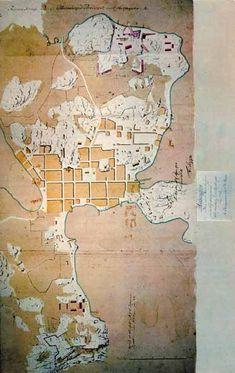 Helsinki 1752 Helsinki, Finland, Pop Up, Vintage World Maps, Cards, Popup