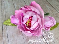 Silk foam flowers. Jedwabny foamiran easy step by step tutorial - YouTube