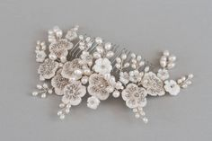 genevieve luxury bridal hair comb by glass oyster | notonthehighstreet.com