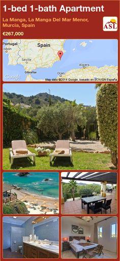 1-bed 1-bath Apartment in La Manga, La Manga Del Mar Menor, Murcia, Spain ►€267,000 #PropertyForSaleInSpain