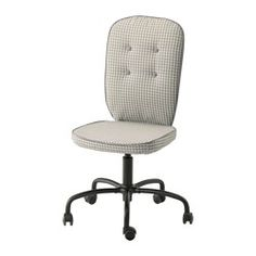 IKEA - LILLHÖJDEN, Swivel chair, Idemo black,  , , You sit comfortably since the chair is adjustable in height.The casters are rubber coated to run smoothly on any type of floor.The cover is easy to keep clean since it is removable and can be dry cleaned.