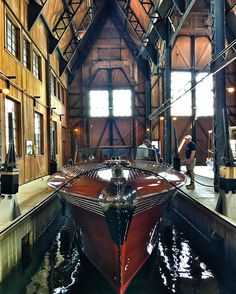 """antiqueboatmuseum  """"Pardon Me, don't you think this is gorgeous?"""" We have been teasing a big announcement regarding Pardon Me and the wait is over! We partnered with @boldtcastle to display Pardon Me in the Boldt Castle Yacht House for the summer of..."""