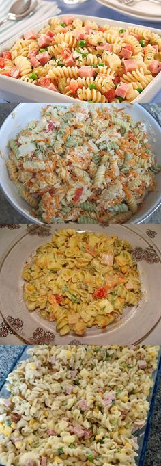 Salada De Macarrão #macarrão #salada #comida #comer #delicia #pilotandofogão Pasta Recipes, Cooking Recipes, Junk Food, Vegetarian Recipes, Healthy Recipes, Good Food, Yummy Food, Salty Foods, Avocado Recipes