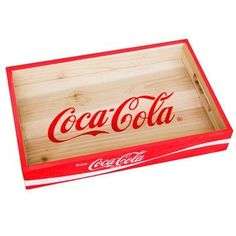 COCA-COLA WOOD CRATE DESK ORGANIZER TRAY - WALL-MOUNTED