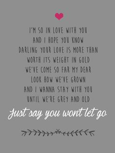 James Arthur | Say you won't let go