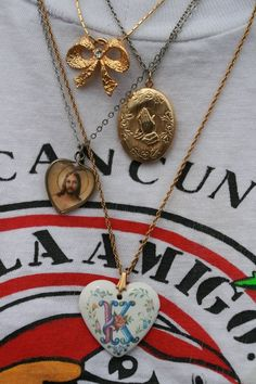 Sarah's collection of her fav thrifted charms!