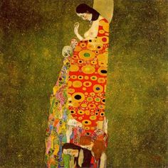 Hope II by Gustave Klimt