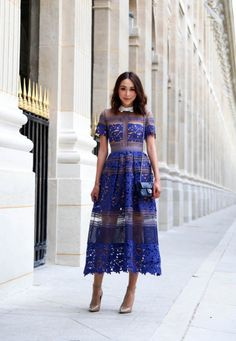 27 Beautiful looks with Self portrait Dress glamhere.com Paris Street Style
