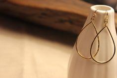 14kt gold fill teardrop hoops
