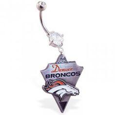 #titaniumonly.com         #ring                     #Denver #Broncos #official #licensed #football #belly #ring                   Denver Broncos official licensed NFL football belly ring                                                http://www.seapai.com/product.aspx?PID=1462283