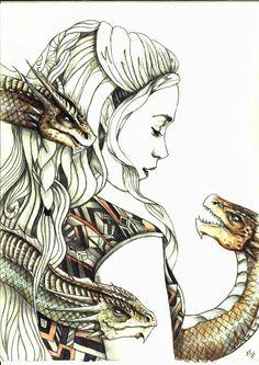 Daenerys Targaryen by Ancha-Snow1.deviantart.com on @DeviantArt