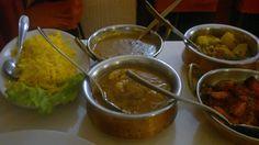 Murgh chana - murgh tika masala - sabzi mix -dhal makhani - riso pulao