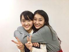 Minami Nomura (Kobushi Factory) and Ayaka Wada (ANGERME)