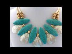 Collar largo con perlas (bisuteria) COLORES - YouTube